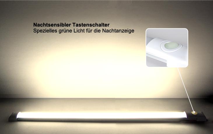 12V Fluoreszierend Schalter LED Wandleuchte Deckenlampe Lichtleiste ...
