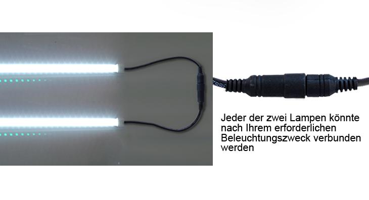 2x12v 500mm led verkn pfte camping lampe lichtleiste. Black Bedroom Furniture Sets. Home Design Ideas
