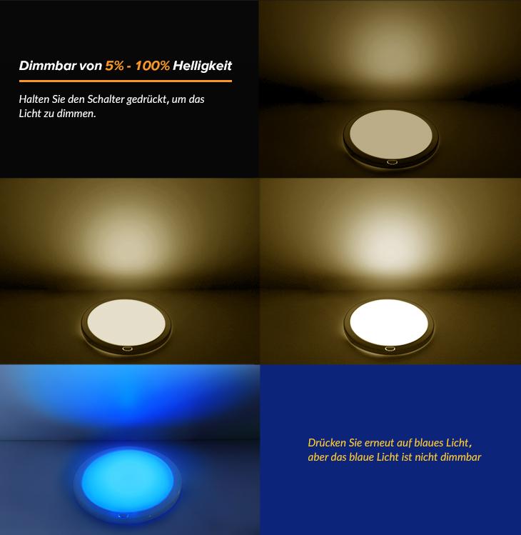 12v led deckenlampe warmwei blau innenraumleuchten wohnmobil 840lm mit schalter ebay. Black Bedroom Furniture Sets. Home Design Ideas
