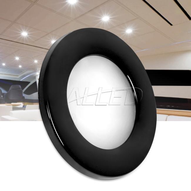 12V 12V Cool White 70MM Black Shell LED Recessed Downlight