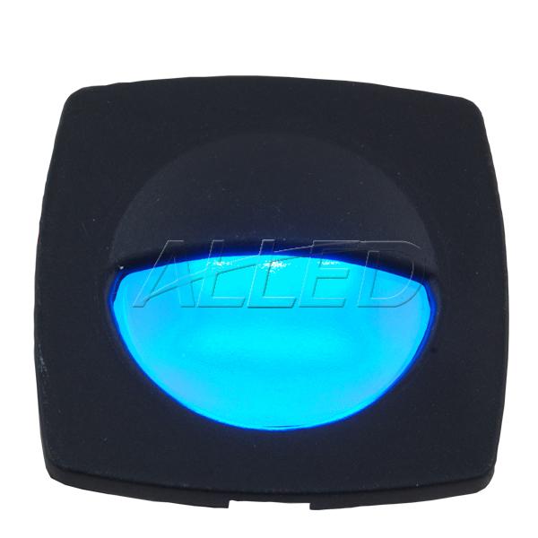 Black Plate Blue Color LED Square Courtesy Light
