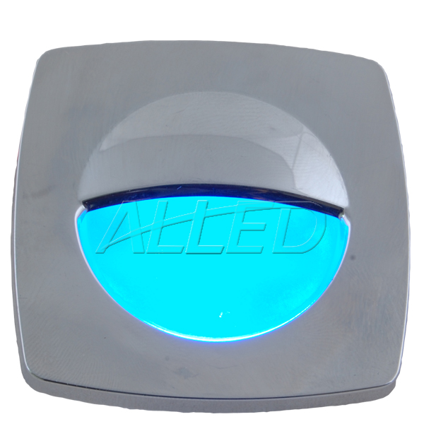 Silver Plate Blue Color LED Square Courtesy Light