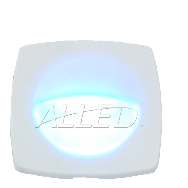 White Plate LED Square Courtesy Light-Cool white