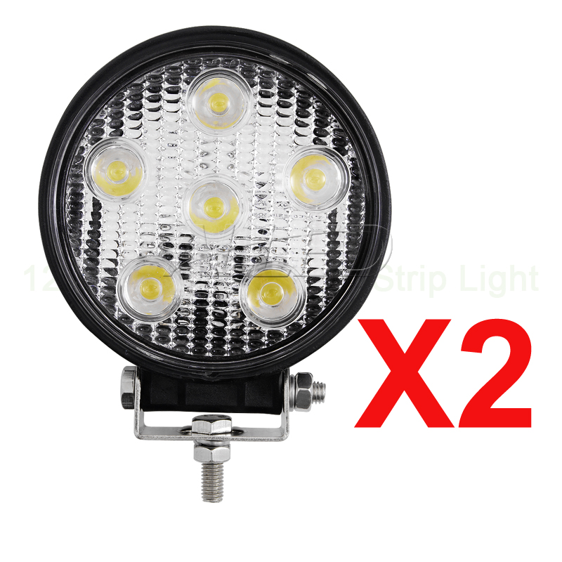2X12V 24V 18W Spot Beam LED Work 4X4 Light