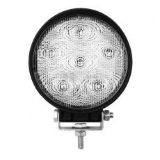 18W Wide Flood Black LED Work 4WD Light