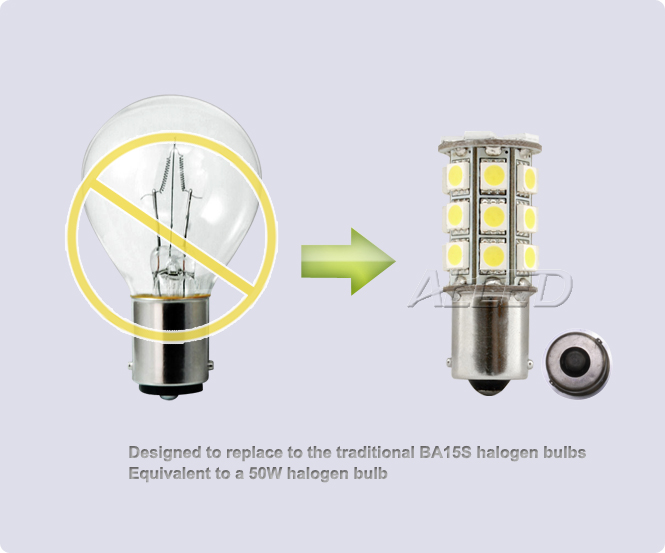 ba15s 27 smd led replacement bulb single connector. Black Bedroom Furniture Sets. Home Design Ideas
