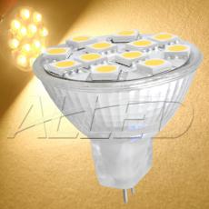 12V LED MR11 Bulb Warm White 12-SMD 5050 Chip