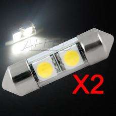 2 Pieces Pack 31mm Festoon 2-SMD-LED Bulb