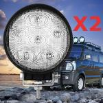 2 X 18W LED Flood Beam Work 4WD Light