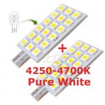 2XT10 DC 12V LED Wedge Light Lamp Bulb Pure white