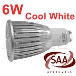 240V 6W LED Gu10 Bulb Cool White