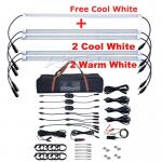 12V Waterproof 500mm LED Camping Light 3XCool White+2XWarm White