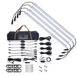 4Bar 12V 500mm Cool White LED camping Strip Light+kit waterproof cool white