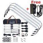 4Bars Cool white 12V Waterproof Joinable Dimmable 500mm LED Camping Strip Light +one more input 100-240V AC output 12V D