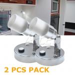 2X12V Swivel Crystal LED Reading Lamp Cool white/Blue Bedside Lamp Boat/Caravan/Laptop/Book/Ipad