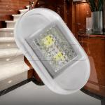12VCool White 0.38W Flush Mount Oblong Stainless Steel Courtesy/Step/Stairway Light