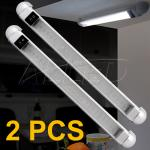 2X298mm Silver Painted LED Rail Light