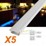 5X1M/100CM/1000MM Alloy channel Aluminium bar for LED strip under cabinet light Kitchen Bathroom