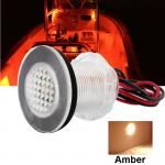 12V Amber Waterproof LED Courtesy Deck Light RV/Stairway/Cockpit/Livewell/Boat
