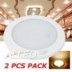 2X12V Warm White Flourescent Switch LED Interior Cabin Roof Ceiling Light Carava...