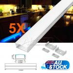 5X1M/100CM/1000MM Thin Alloy Channel Aluminium Bar for LED Strip Light Kitchen
