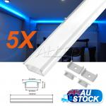 5X1M/100CM/1000MM Alloy Channel Aluminium Bar for LED Strip Light Kitchen Cabin