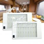 2X12V Rectangle Ceiling Cabin Down Light With Switch Caravan/Motorhome/Camper/RV