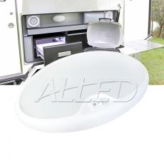 12V Cool White LED Oval Ceillng Roof Light Trailer Camper RV Interior Dome Lamp