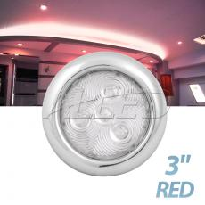 10-30V 75mm 316 Stainless Steel LED Puck Light Red