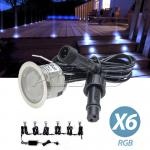 6X12v  RGB waterproof LED Courtesy Step Garden Boat exterior Lights