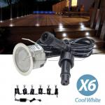 6X12v Cool White waterproof LED Courtesy Step Garden Boat exterior Lights
