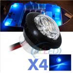 4XBlue 12V LED Flush Mount Car Truck Trailer Mini Marker Light Motorcycle Lamp