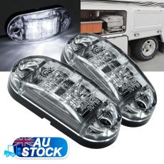 2X12 Cool White LED Side Marker Clearance Lights Indicators Trailer Truck
