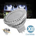 8 Pieces in one pack 1.5W LED MR16 Globe Cool White