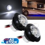 2X12V DC Cool White LED Turning Signal Indicator Light Motorcycle/Car/Truck/Trai...