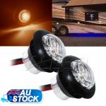 2XAmber 12V LEDTurning Signal Indicator Light Trailer Motorcycle Clearance Lamp