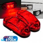 2X12 Surface Mount Red LED Side Marker Clearance Light Indicator Trailer Truck