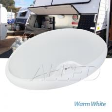12V LED Warm White Oval Ceiling Roof Light Camper RV Interior Dome Lamp