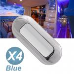 4XBlue Color LED Stainless Steel LED Courtesy Light