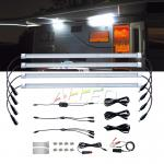 4x12V LED Camping Light Waterproof Outdoor Strip Lamp RV Caravan
