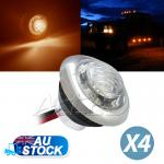 4xAmber Side Marker Light inbuilt a Stainless Steel Ring
