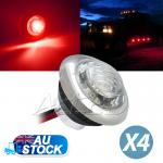 4x12v Red Side Marker Light Motorcyle RV Camper Step Lamps