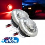 2x12v Side Marker Light with inbuilt a Stainless Steel Ring RV Caravan Lighting