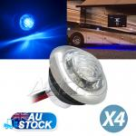 4xBlue Side Marker Light inbuilt a Stainless Steel Ring