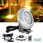 RGB LED Swimming Pool Light Aquarium Fountain Spa Underwater Spot Lighting+Drive...
