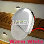 12V Warm White LED Half Round Courtesy Light Outdoor/Step/Decks Lamp