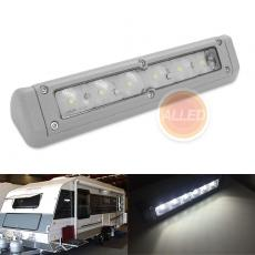 200mm Gray Rigid LED Awning Light 12V Waterproof Exterior RV Wall Lamp