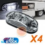 4X12V Cool White LED Side Marker Lights Indicators Clearance Truck Lorry Lightin...