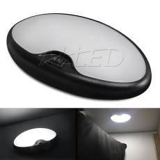 Black Shell LED Single Pancake Light Oval Ceiling Lights for Camper Caravan Boat