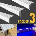 3pcs Slip Resistant Stair Extrusion 1M Aluminum Channel Bar Home Garden